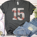 Custom VIntage Baseball Shirt - Baseball Mom/ Baseball Girlfriend/ Baseball Fan Shirt with Number