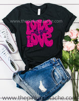 Love is Love Tee / Bella Canvas Retro Love is Love T-Shirt