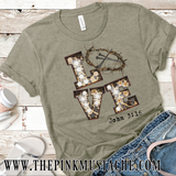 Love John 3:16 Tee / Love Marquee Cheetah Crown Of Thorns T-Shirt/ Mommy and Me