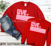 Love Sweatshirts - Mommy and Me Designs / Retro Love Sweatshirt