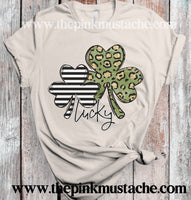 Lucky Clover Tee / St Patty's Day Bella Tee/ Youth and Adult Sizing Available
