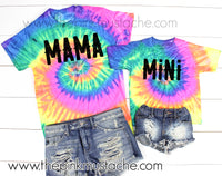 Mama Mini Tie Dye Tees / Matching Mommy and Me Tees / Mama Mini Tees /