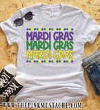 Mardi Gras Graphic Tee / Youth and Adult Sizes / Mardi Gras T-Shirt / Mommy and Me/ Gift For Her