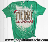 Bleached Bella - Merry Christmas Shirt/ Youth and Adult / Christmas Shirt Tees