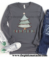 Long Sleeved Merry Christmas Vibes Only  Print Bella Canvas Shirt /Christmas T-Shirt