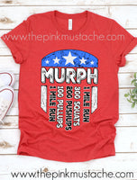 Murph Memorial Day WOD Red T-Shirt/ Memorial Day Shirt - Mens Cut - Unisex