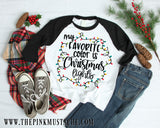 My Favorite Color is Christmas Lights Shirt / Youth and Adult sizing