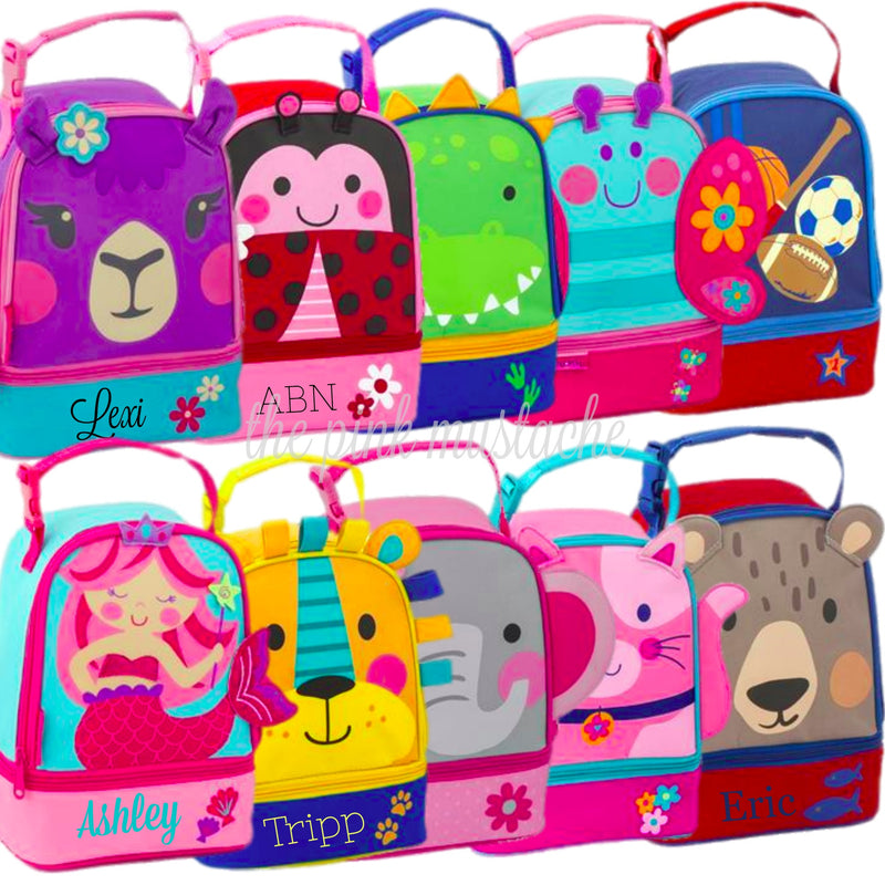 Personalized Embroidered Lunch Box / Stephen Joseph Lunch Pals - New Styles for Fall 2018