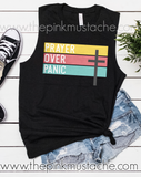 Prayer Over Panic Tee, Racerback Tank, or Muscle Tank/ Religious Prayer for the World Bella Canvas Shirt / Mommy and Me/ Covid-19/ Coronavirus