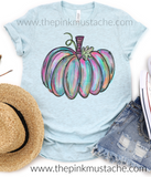 Fall Hand Painted Pumpkin Watercolor Tee/ Hello Fall Shirts Youth and Adult Shirts /Fall Style
