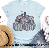 Fall Hand Painted Pumpkins Watercolor Tee/ Hello Fall Shirts Youth and Adult Shirts /Fall Style