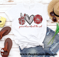 Peace Love Back The Red Tee / Firefighter Tee/ Youth and Adult Sizes Available