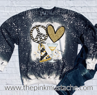 Bleached Peace Love New Year - Unisex Sized Sweatshirt/ New Year's Sweatshirt