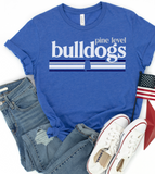 Pine Level Bulldogs Tee/ Custom School Shirt
