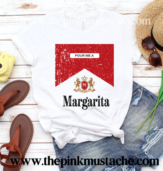 Pour Me a Margarita Unisex Sized Softstyle Tee / Funny Shirts / Shots / Tequila/ Alcohol
