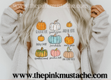 Pumpkin Varieties Funny Fall Shirt/ Boutique Bella Canvas  Tee/ Fall Layering Tee / Teachers Tee Youth and Adult Sizing