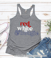 Red White and Bougie Tank / Racerback Tank Top / July 4th Tank