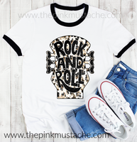 Rock And Roll Ringer Tee- sizes 2T - Adult 3XL - Soft Style Tees / Mommy and Me