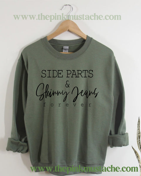 Side Parts and Skinny Jeans Retro Vibes Sweatshirt / Western Vintage Style Sweater -Funny Millennial Sweatshirt