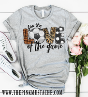 Hand Painted Design Soccer For The Love Of The Game T-Shirt / Soccer Mom Tee/ T-Ball Shirt/ Gifts For Her/ SALE / Soccer Fan T-Shirt