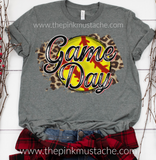 Softball Game Day Leopard Tee /Softball T-Shirt / Softball Spirit Wear / Cheetah