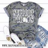 Camouflage Support Our Troops T-Shirt / Camo Tee/ Sizes 2T-XXXL / Military Shirts/ Support our Military Tee