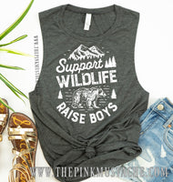 Support Wildlife Raise Boys Tank / Mother's Day Tank