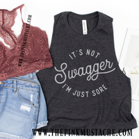It's Not Swagger, I'm Just Sore Cropped Tank /Crossfit / Workout Tank