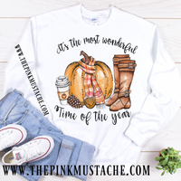 It's The Most Wonderful Time of The Year Sweatshirt (Youth and Adult) /Fall Themed
