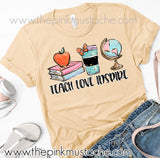 Teacher Shirt / Teach Love Inspire Tee / Bella Canvas Teacher Shirt