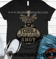 Tequila May Not Be The Answer But It's Worth A Shot - Tee / Bella Canvas T-Shirt/ Funny Graphic Tee/ Salty - Tequila- St. Patricks Day/ Cinco De Mayo