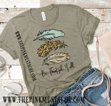 Be Thankful Y'all Bella Canvas Fall T-Shirt/ Fall Shirts for Moms and Kids