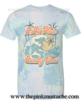Tie Dye Softstyle Salty Hair Sandy Toes - Retro Spring Summer - Vacation Tee