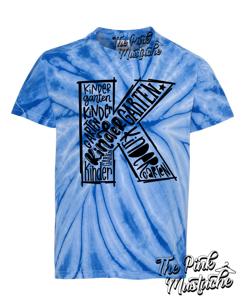 Youth Tie Dyed T-shirt (Vinyl Heat Press)