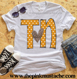 TN Heart Leopard Print Tee/Tennessee Heart Shirt / TN Shirt