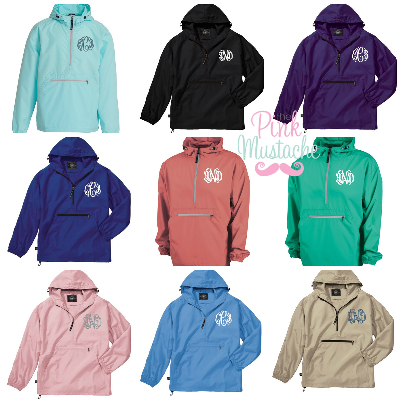 dirt cheap 2019 hot sale search for original SALE Charles River Monogrammed Rain Jacket / Windbreaker / Pack and Go  Pullover