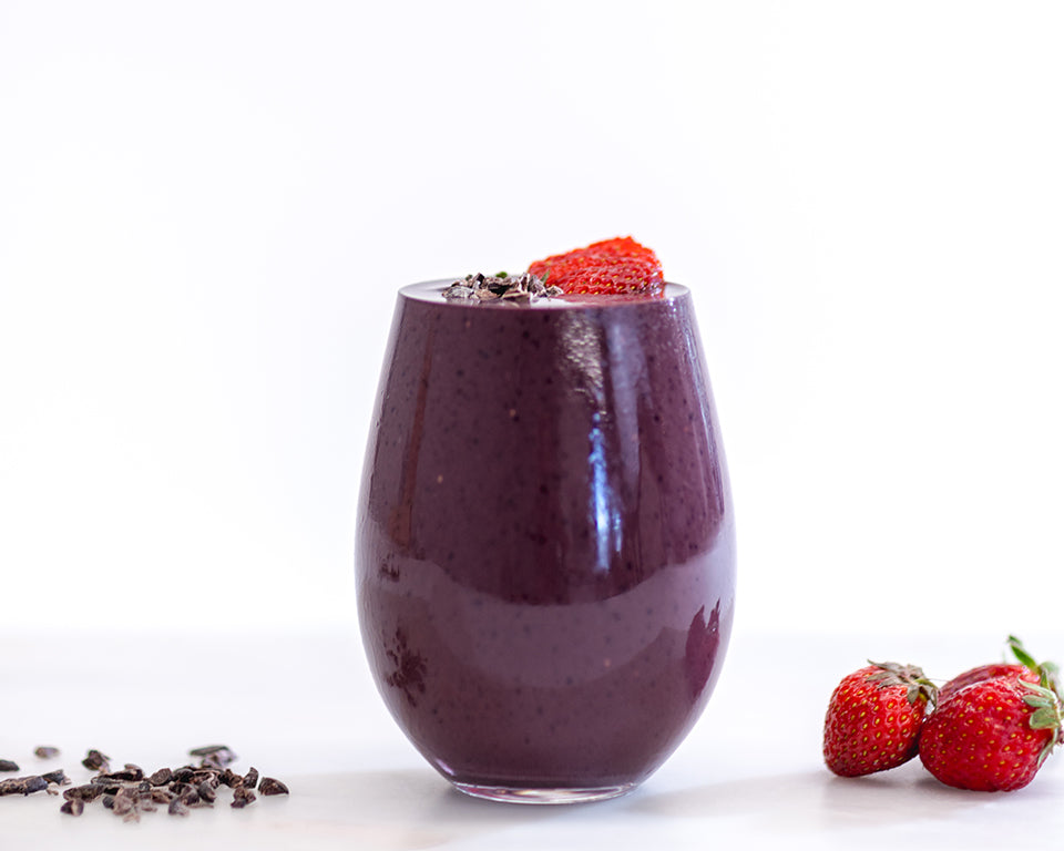 Açaí Cacao berry smoothie