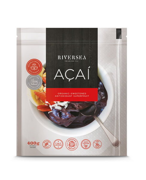 Riversea Organic Acai Guaraná blend - (12 x 400g Packs) - Frozen - 4,8 kg box