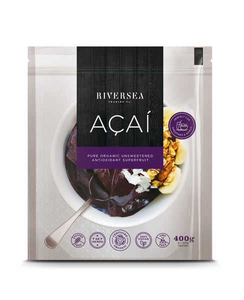 Riversea Organic Açaí Pure - (12 x 400g Packs) - Frozen - 4,8 kg box