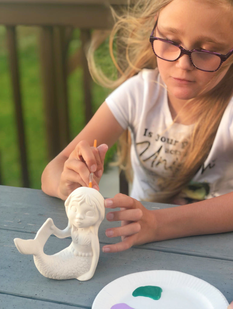 DIY Paint Your Own Pottery To Go Kits - Mermaid