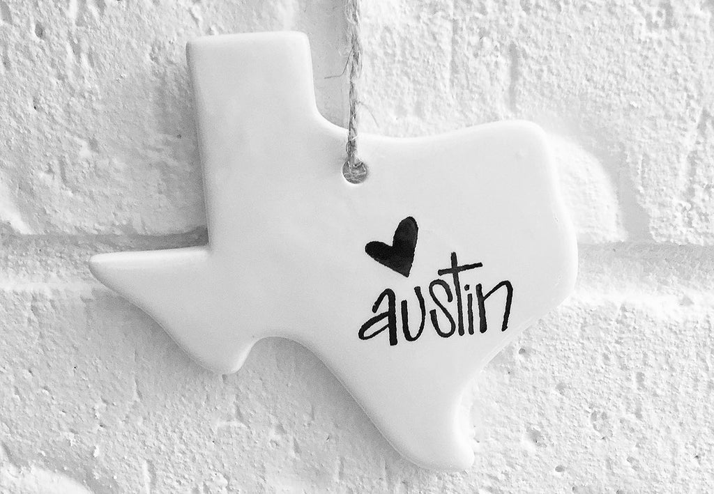 Austin Texas Christmas Ornament