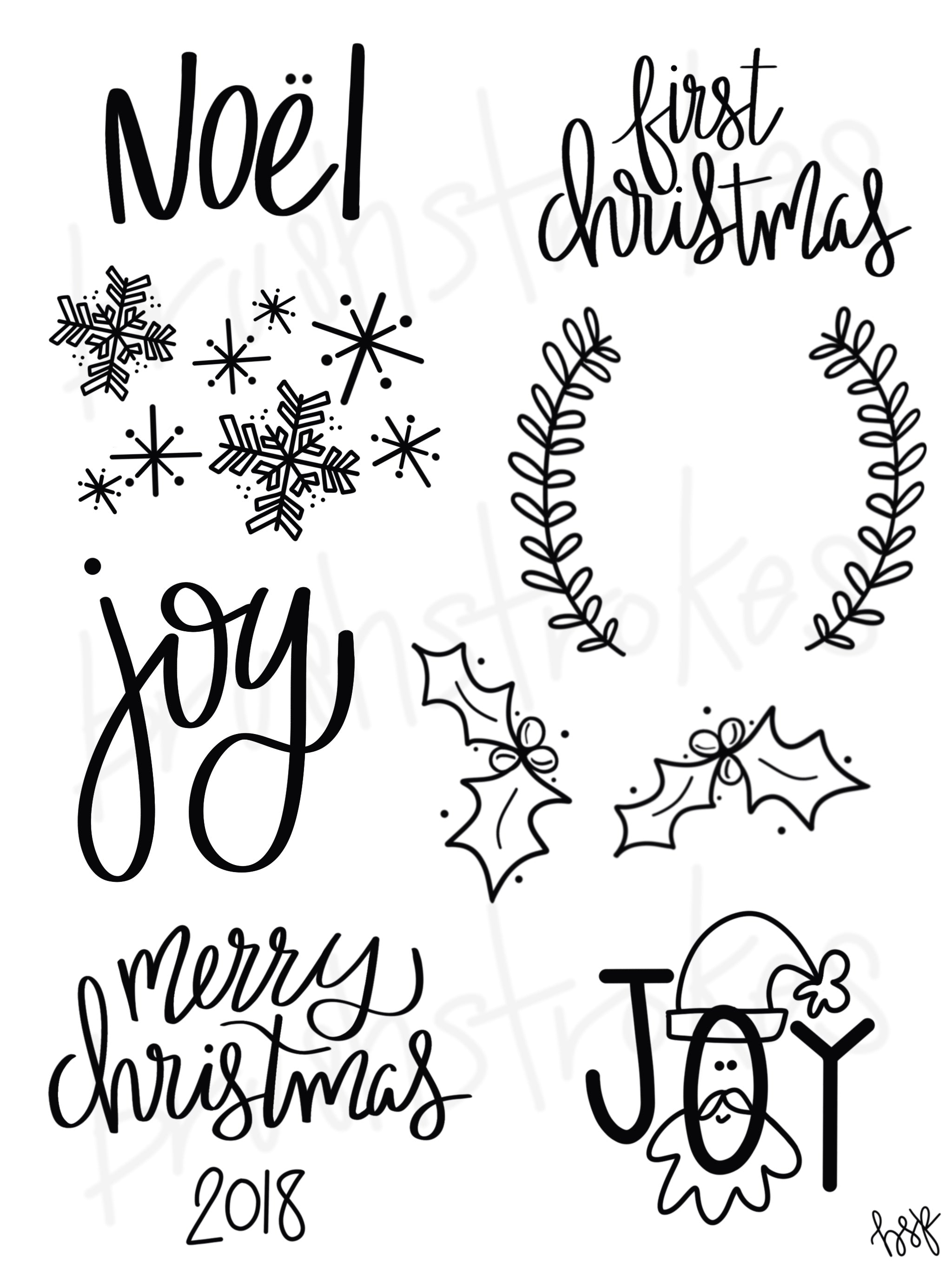 Christmas Sayings & More Silk Screen - Brush Strokes Pottery