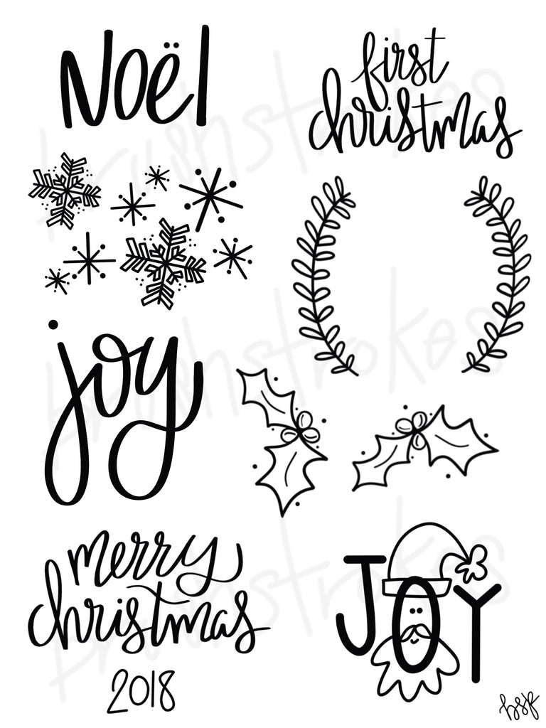 Christmas Sayings & More Silk Screen
