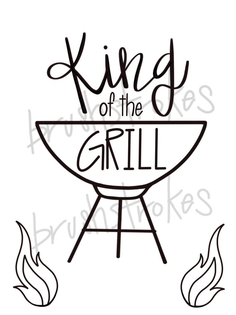 King of the Grill Silk Screen