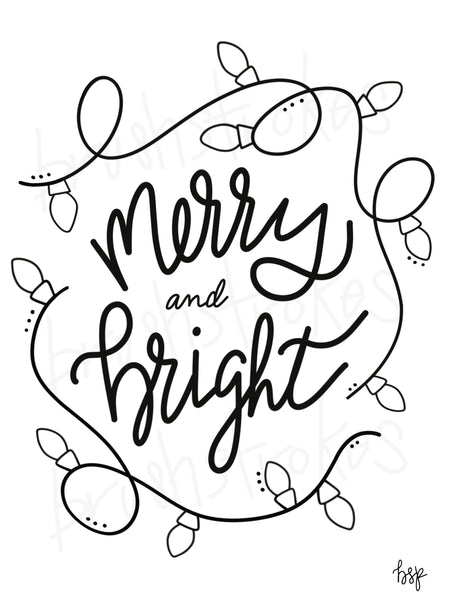 Merry & Bright Christmas Silk Screen