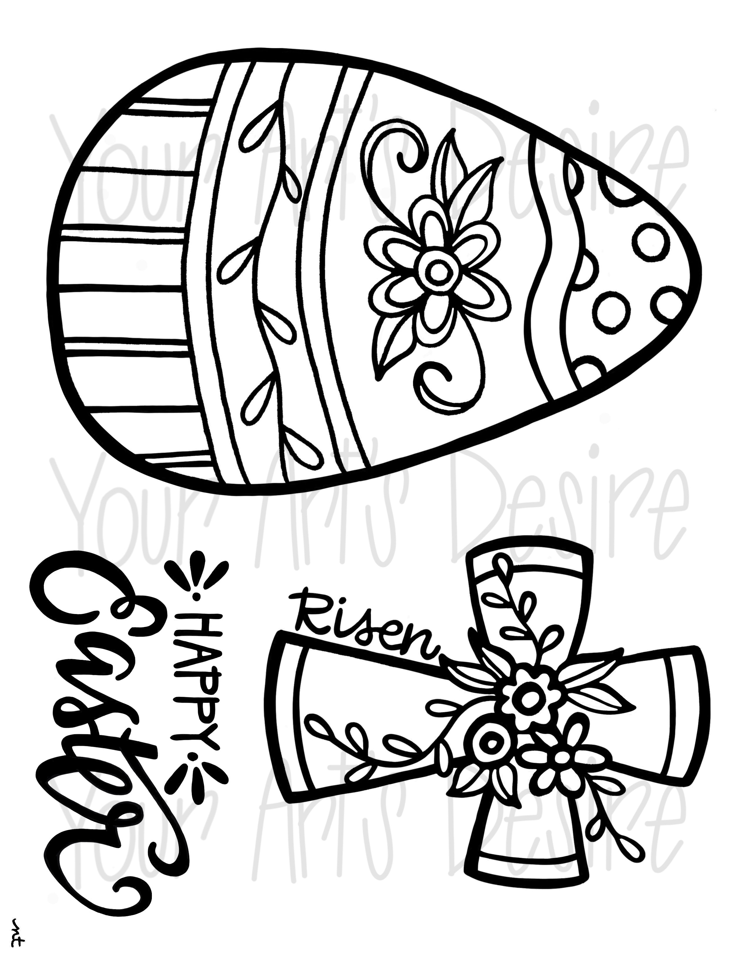 Easter Coloring Book Silk Screen - Brush Strokes Pottery