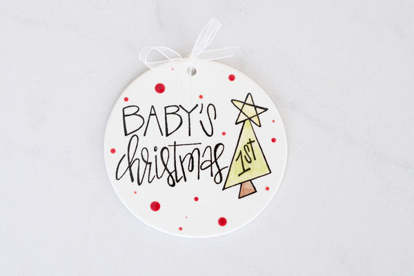 Baby's First Christmas Ornament Blue