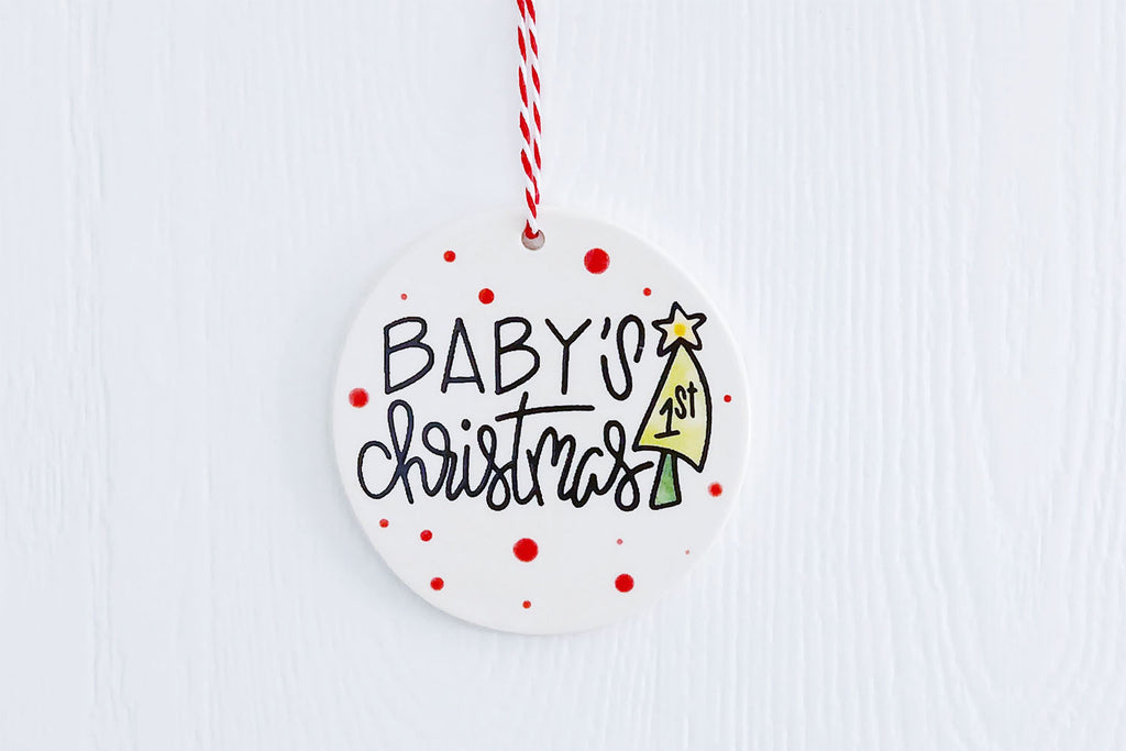 Baby's First Christmas Ornament - Colorful Tree