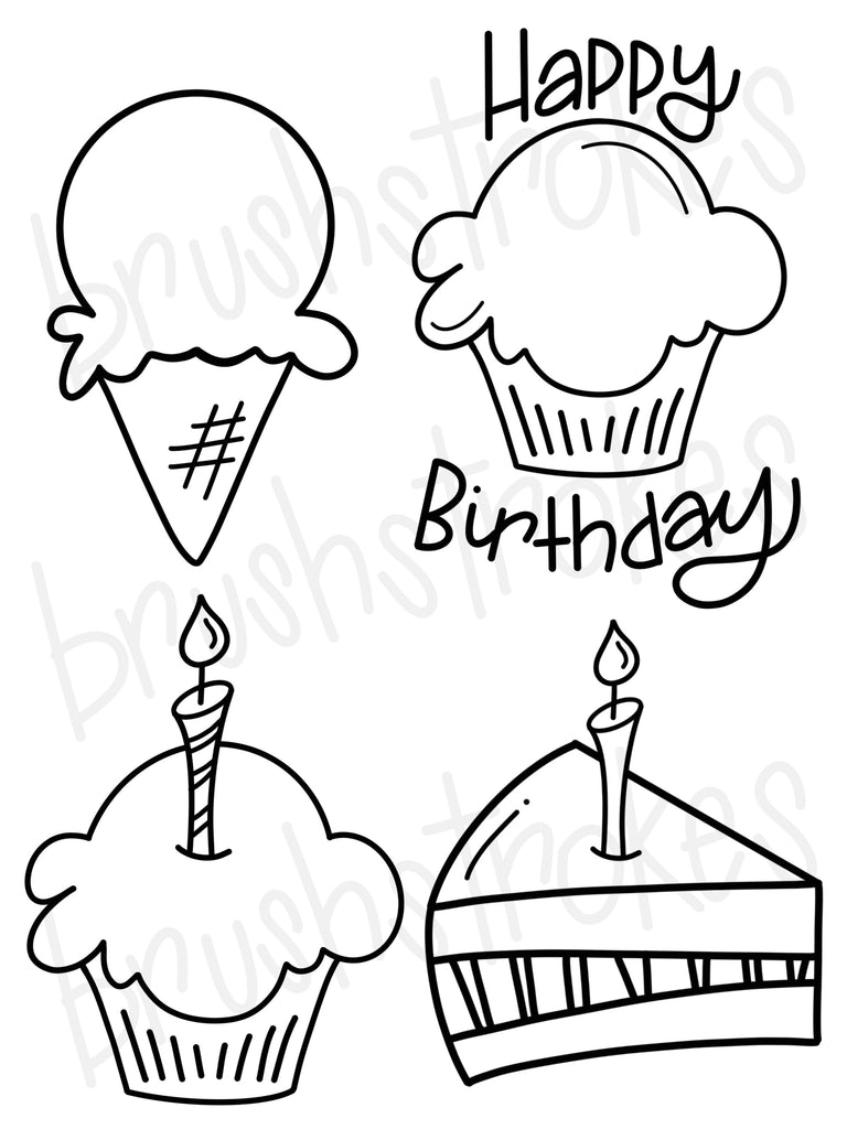 Birthday Celebration Coloring Book Silk Screen