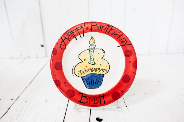 Personalized Birthday Plate - Cupcake